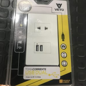 PLACA MIXTA USB DOBLE + TOMA SIMPLE PRE16535