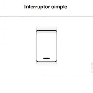 PLACA INTERRUPTOR SIMPLE  VETO PRE16023