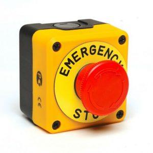 BOTON PARO DE EMERGENCIA EN CAJA 1NC 40MM P1EC400E40K
